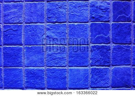 Blue lightning quader Flagstone background with structure