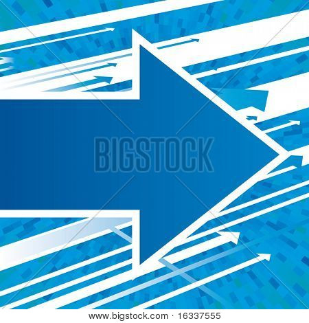 Vector blue arrows background