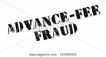 Advance-Fee Fraud rubber stamp. Grunge design with dust scratches. Effects can be easily removed for a clean, crisp look. Color is easily changed.