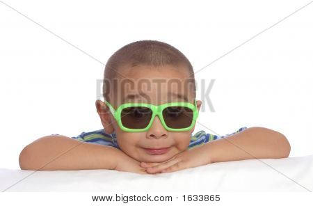 Boy With Funny Face And Sunglasses