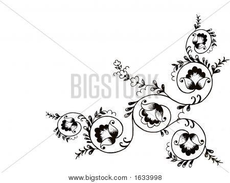 Black Flower Ornament