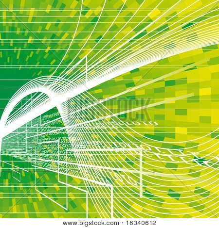 abstract green vector backdrop with binary code