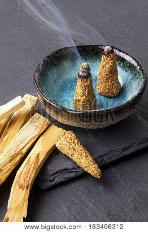 Bursera graveolens, known in Spanish as Palo Santo (