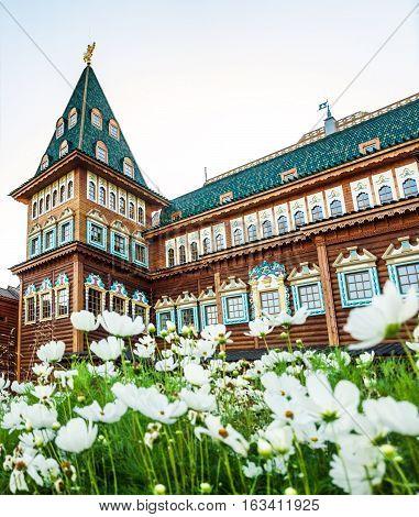 Russia Moscow Kolomensky. part of reconstructed Tsar family palace