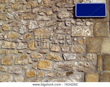 Blank Street Name Plate
