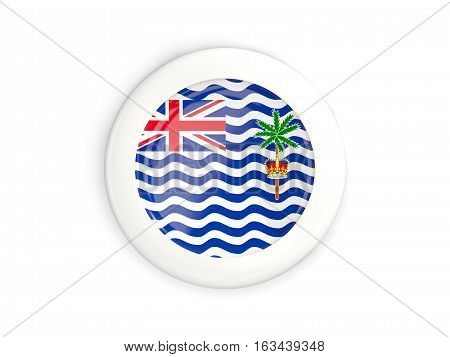 Flag Of British Indian Ocean Territory, Glossy Round Button