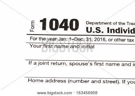 1040,1120,1065 Us Tax Form / Taxation Concept