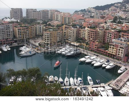 Nice city Boats Sailboat in the bay White city by the sea panorama of beach in City of Nice Cote d'Azure France