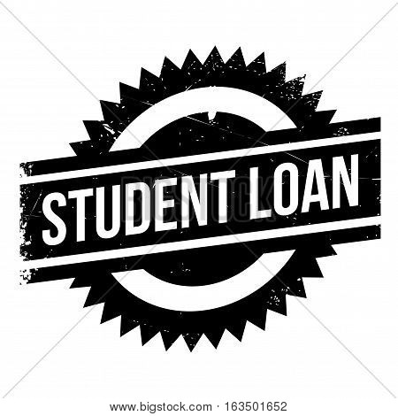 Student loan stamp. Grunge design with dust scratches. Effects can be easily removed for a clean, crisp look. Color is easily changed.