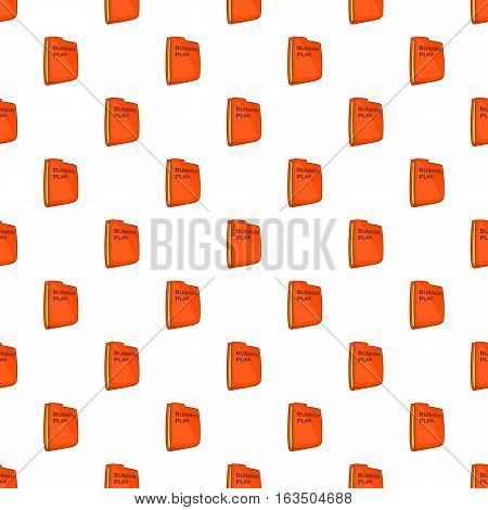 Bisiness plan folder pattern. Cartoon illustration of bisiness plan folder vector pattern for web