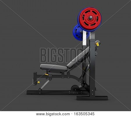 3d Illustration of diverse equipment and machines.