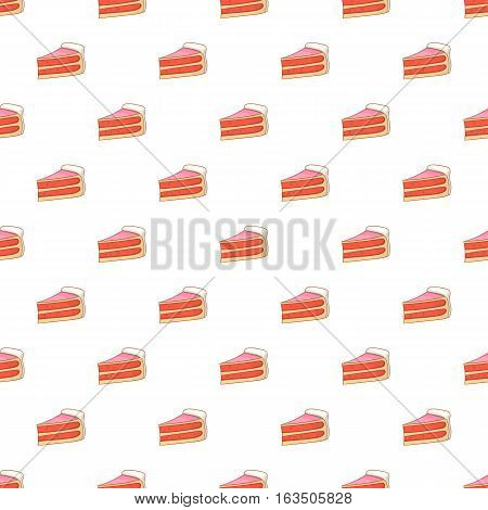 Piece of cake pattern. Cartoon illustration of piece of cake vector pattern for web