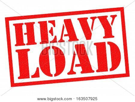 HEAVY LOAD red Rubber Stamp over a white background.