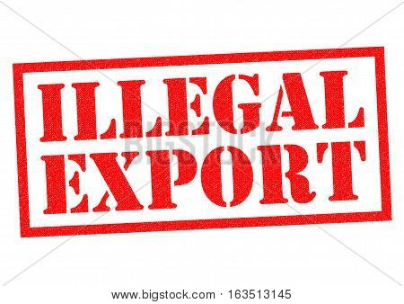 ILLEGAL EXPORT red Rubber Stamp over a white background.