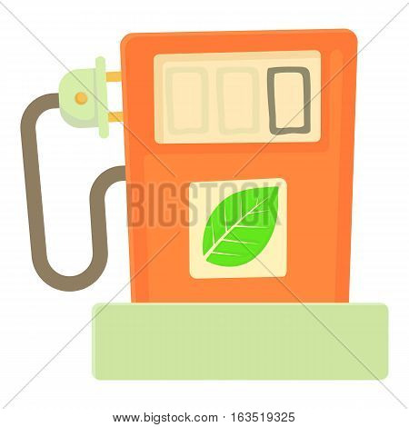 Eco gas station icon. Cartoon illustration of eco gas station vector icon for web