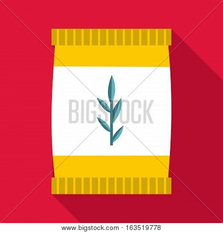 Plastic jar icon. Flat illustration of plastic jar vector icon for web