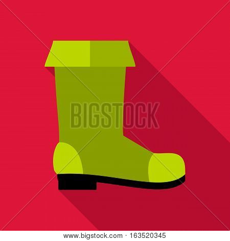 Rubber boot icon. Flat illustration of rubber boot vector icon for web