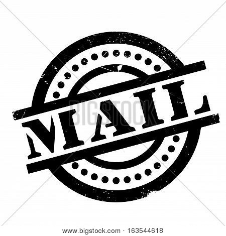 Mail rubber stamp. Grunge design with dust scratches. Effects can be easily removed for a clean, crisp look. Color is easily changed.