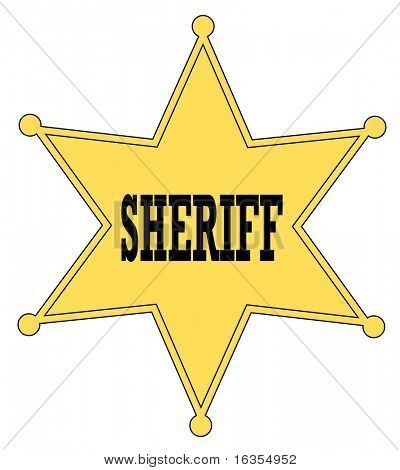 gold star sheriff badge from the old west