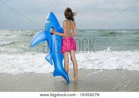 Teenager on the beach