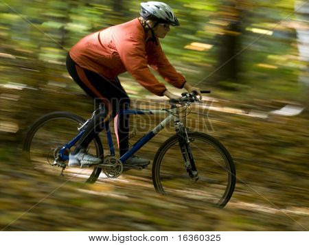 Autumn bike riding