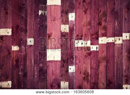 old burgundy with background with wooden boards