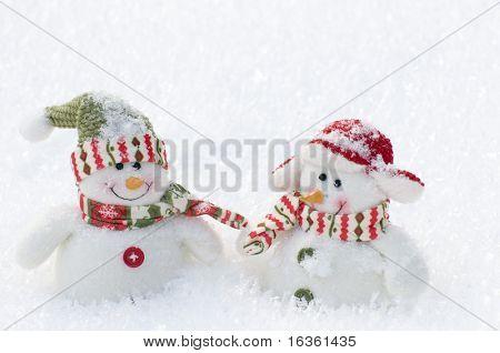 Happy two snowman