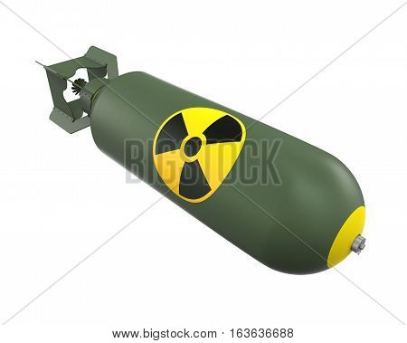 Atomic Bomb isolated on white background. 3D render