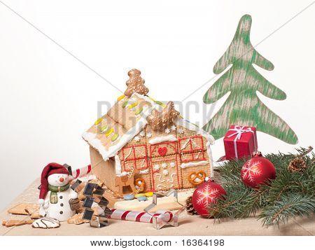 Christmas cookies house - oneself made