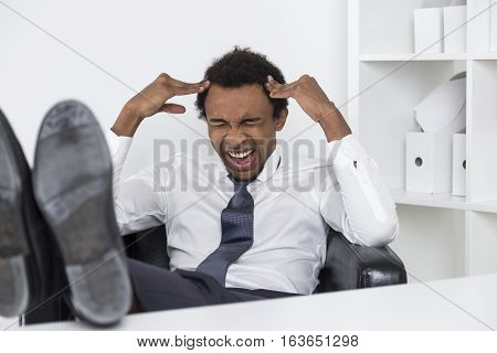 Stressed Out African American Manager
