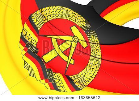 3D Flag Of German Democratic Republic. 3D Illustration.