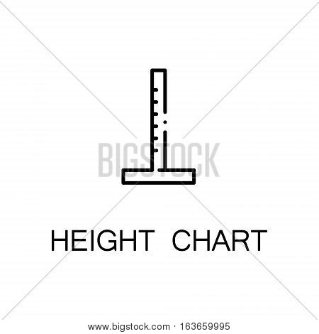 Height chart flat icon. High quality outline symbol of medical euipment for web design or mobile app. Thin line signs of height chart for design logo, visit card, etc. Outline pictogram of height chart