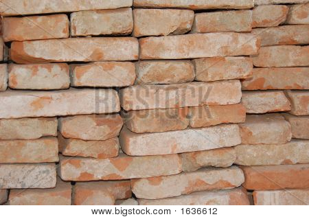 Red Bricks Stockpiled