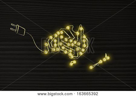 Australia & New Zealand Made Of Electronic Circuits With Plug