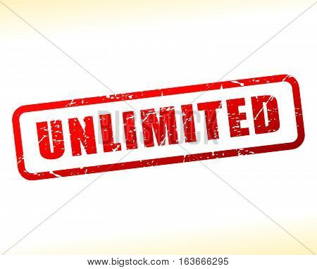 Illustration of unlimited text buffered on white background
