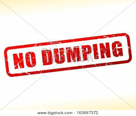 Illustration of no dumping text buffered on white background