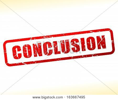 Illustration of conclusion text buffered on white background