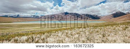 Kyagar Tso Lake panorame Ladakh region North India