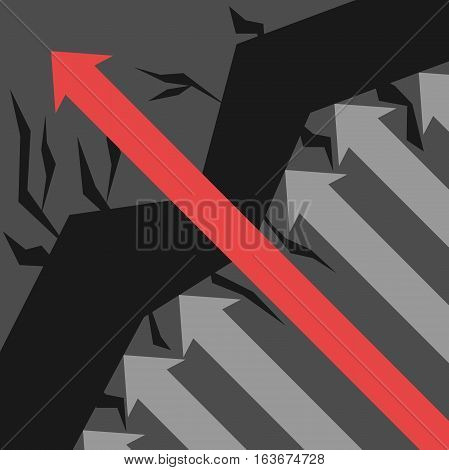 Red Arrow Avoids Obstacles