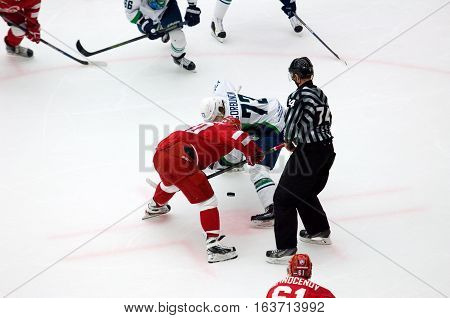 D. Gorbunov (73) And A. Stepanov (30) On Faceoff