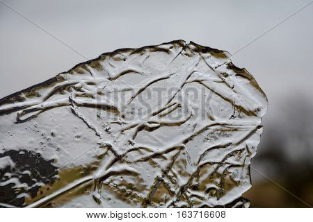 ice floe in detail with Grass strukture