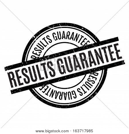 Results Guarantee rubber stamp. Grunge design with dust scratches. Effects can be easily removed for a clean, crisp look. Color is easily changed.