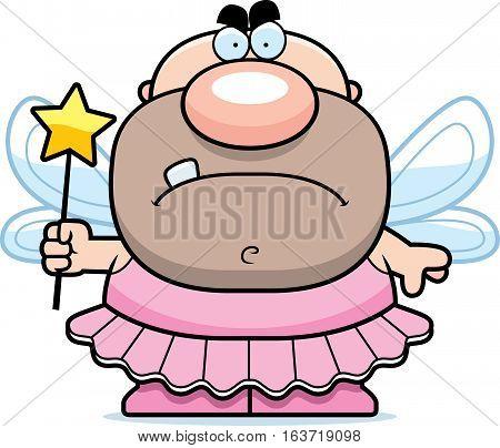 Cartoon Angry Tooth Fairy