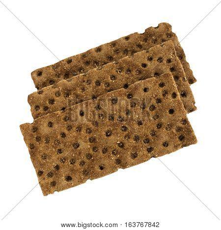 Black Bread Crumbs Isolated