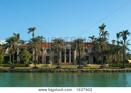 Mansion With Palms
