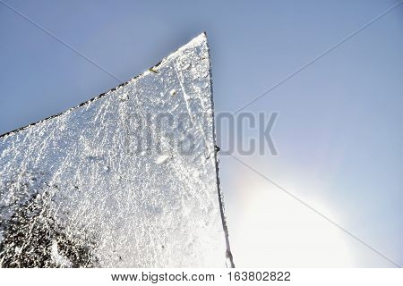 A piece of ice from the sun. Ice.