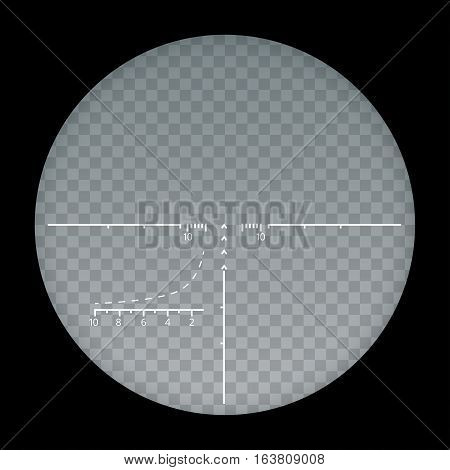 Target sight sniper symbol isolated on a transparent background, crosshair and aim vector illustration stylish for web design.