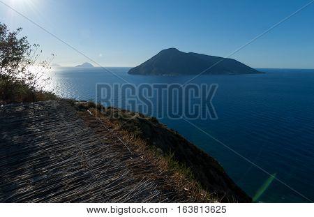 Seaview of the aeolian islands from Lipari.