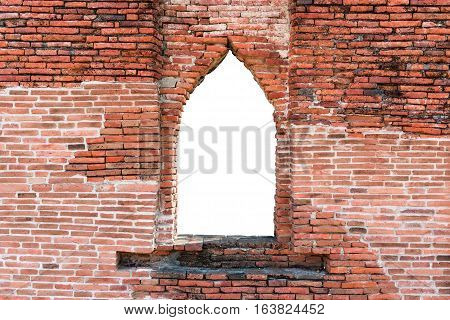 Weathered Red Brick Window Cut Out