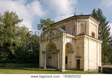 Sixth Chapel At Sacro Monte Di Varese. Italy
